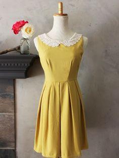 Etiquette Dress in Mustard