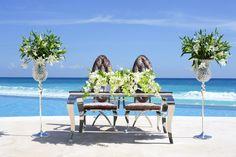 Mobiliario para bodas / Wedding furniture  #bride&groomtable #bride #groom #destinationweddings #tables #bodascaribe #cancun #rivieramaya