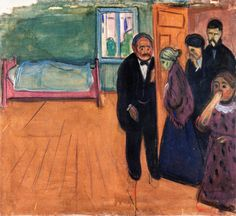 Edvard Munch - The Smell of Death (1895).