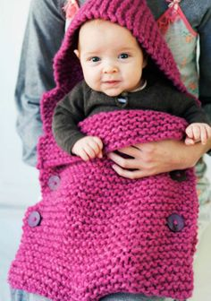 Knitting, crochet, embroidery, sewing and tons of inspiration for your next project. Baby Knitting Patterns, Knitting For Kids, Crochet For Kids, Baby Patterns, Knit Crochet, Knitted Blankets, Knitted Hats, Baby Sleeping Bag Pattern, Baby Pullover