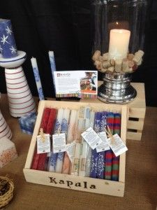 Kapula Candles at Eastern Market in Detroit, Michigan....if you can't make it, SAVE 20% with website coupon code Eastenmarket20.  #candles #handpaintedcandles #giftswithacause #savetherhino #homedecor