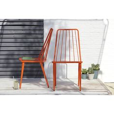 George Home Retro Dining Chairs in Summer Orange - Pack of 2 | Garden Furniture | ASDA direct