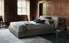 GENTLEMAN Bed with upholstered headboard by Flou design Carlo Colombo Masculine Bedding, Double Bed Designs, Queen Bedroom, Master Bedrooms, Buy Bed, Double Beds, Interior Design Inspiration, Bed Spreads, Bedroom Designs