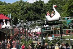 Bakken Amusement Park on Zealand Island in Denmark.