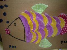 pez con papeles de magdalenas