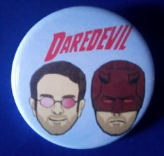 Daredevil. Matt Murdock. Custom. 38mm Pin Badge. #Daredevil #MattMurdock #CharlieCox #TVShow