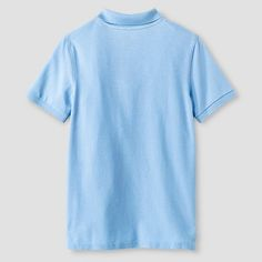Boys' Pique Polo - Cat & Jack, Size: Small, Light Blue