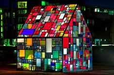 New York-artist Tom Fruin shows us how one man's trash can become one city's treasure. His latest creation, the Kolonihavehus, is situated in the plaza of the Royal Danish Library in Copenhagen. Throwing back to the 19th century Danish tradition of Kolonihave — 'little house with garden' — Fruin's sculpture is made from a thousand reclaimed pieces of plexiglass found in dumpsters around the city.