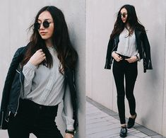 Get this look: http://lb.nu/look/7361018  More looks by Beatrice Gutu: http://lb.nu/thefashioncuisine  Items in this look:  Jacket, Blouse, Jeans, Shoes   #chic #classic #minimal