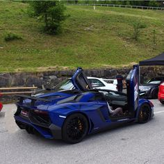 Lamborghini Aventador Super Veloce Roadster painted in Blu Sideris  Photo taken by: @marcocarphotography on Instagram