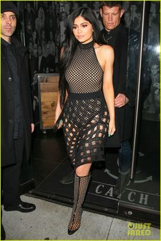 kylie jenner is a fishnet queen for dinner 01