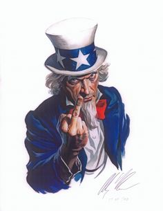Uncle Sam Print (Adults Only) by Alex Ross Comic Art
