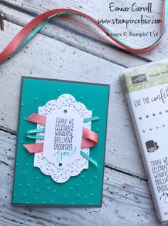 Join the Let's Get Hopping team as we bring you a variety of stunning projects from the Stampin' Up Spring Summer 2018 catalogue all with the Celebration theme. Atc Cards, Card Tags, Stampin Up Cards, Card Making Inspiration, Making Ideas, Bday Cards, Scrapbook Cards, Scrapbooking, Embossed Cards