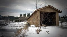 Jay Covered Bridge over the Ausable River in Jay, NY