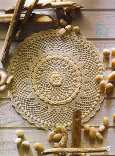 Four beautiful doily patterns here.
