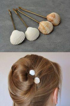 + de 10 ideias diy para customizar grampos de cabelo + tutoriais – Pra Quem Tem Estilo How to make a fan? Find the fan supplies, wooden sticks, fabric, and sheets to create your custom fan. DIY tutorials to make a range of quality. Seashell Jewelry, Seashell Crafts, Ideias Diy, Bridal Hair Pins, Diy Hair Accessories, Succulents Diy, Mason Jar Diy, Craft Kits, Diy Flowers