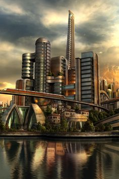 Sci-fi Futuristic City Landscape