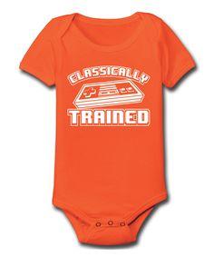 Look at this #zulilyfind! Orange 'Classically Trained' Bodysuit - Infant by MAD Teez #zulilyfinds