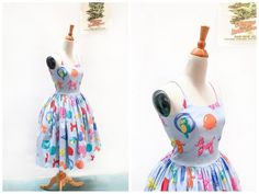 Penelope Dress Party Animals in Balloon Animal by HeartsandFound