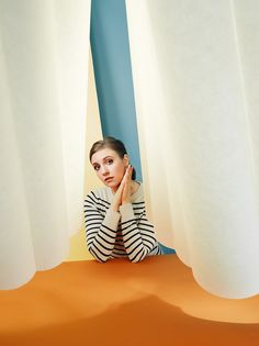 Paper Portrait of Lena Dunham for TIME Magazine. Photo by Lee Towndrow. Wardrobe Styling by Delphine Danhier