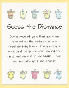 Baby Shower Game Guess the Distance Measure by CardsByKooper