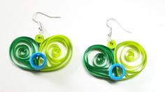 Quilling Paper HeartShaped Pendant & Ear Rings