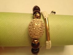 Macrame tube bracelet/beaded bracelet stackable by AroundMyWrist, $13.95