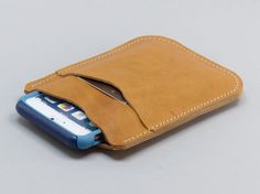 Natural Leather iPhone 6 Otterbox Wallet/Holster by FleurdeLeather