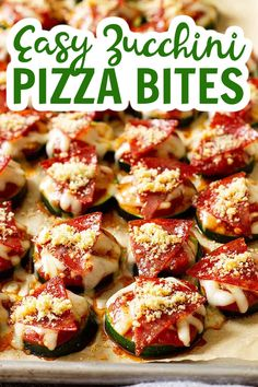 These Easy Zucchini Pizza Bites are a great way to use that abundance of zucchini you may have! Plus, it tastes great, easy to make, kid-friendly, and healthy! #zucchinipizzabites #pizzabites Quick Easy Meals, Easy Dinner Recipes, Summer Recipes, Appetizer Recipes, Easy Recipes, Appetizers, Real Food Recipes, Healthy Recipes, Healthy Food