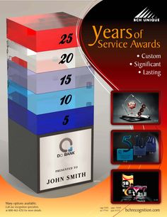 Ideas of concept for Years of Service awards #awards #employee #service
