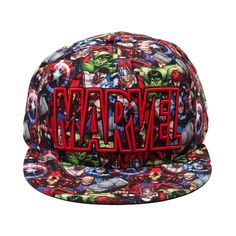 Shop for Marvel Allover Hat in Multi at Journeys Shoes.