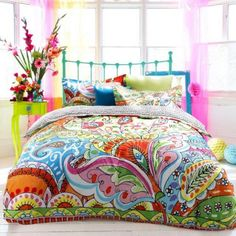 fun and funky - cute and colorful - chic and trendy decorating ideas - unique decor - girls bedroom decor - colorful decor - decorating with color - color inspiration decorating ideas - colorful bedrooms - colorful furniture - colorful bedding - Bedroom Themes, Bedroom Colors, Bedroom Decor, Bedroom Furniture, Bedroom Ideas, Home Bedroom, Girls Bedroom, Modern Bedroom, Bedrooms