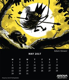 King Coo written and illustrated by Adam Stower Calendar 2017, Book Illustration, Illustrators, King, Superhero, Books, Movie Posters, Fictional Characters, Libros