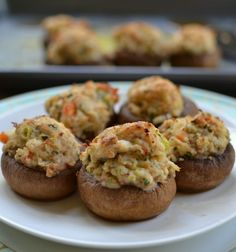 These Quick and Creamy Crab Stuffed Mushrooms are filled with fresh crab, cream cheese, bread crumbs, garlic and Parmesan making them the perfect appetizer.