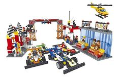 Ausini Speed Racing Champion Finish Line with Action Figures Building Bricks 799pc Educational Blocks Set Compatible to Lego Parts  Great Gift for Children *** You can get more details by clicking on the image.