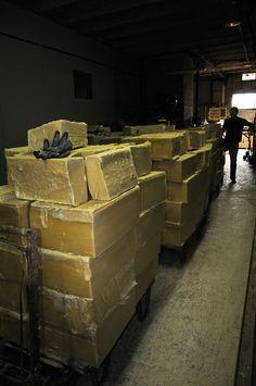 heavy Marseille soap blocks.