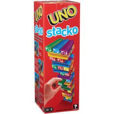 UNO Stacko Game for 2-10 Players Ages 7 Years and Up - Walmart.com - Walmart.com Boys Go Games, Games To Play, Diy Games, Family Game Night, Family Games, Indoor Games For Adults, Tower Falling, Stack Game, Robin