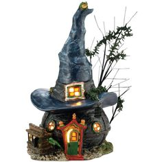 Department 56 Halloween Village Toads and Frogs Collectible Figurine ($85) ❤ liked on Polyvore featuring home, home decor, holiday decorations, halloween, art, no color, frog figurines, department 56 figurines, halloween home decor and department 56
