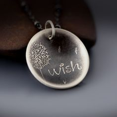 dandelion cuff | Dandelion Wish Necklace | etched sterling silver by Lisa Hopkins ...