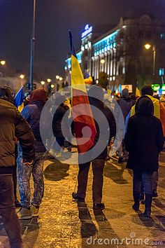Sibiu, Romania. Romanians demonstrated against government decree decriminalizing some corruption offences.