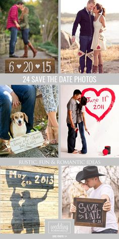 24 Super Save The Date Photo Ideas ❤ Creating save the date is a good way to have fun with your loved and get wonderful photos together. See more: http://www.weddingforward.com/save-the-date-photo-ideas/ #wedding #photos #savethedate
