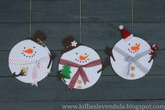 Различные идеи гирлянд в виде снеговиков