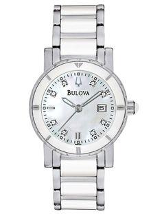 Womens Watches - Bulova 98P121 Women's Dress Stainless Steel DiamondWatch--just like mine! Love it!!