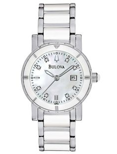 Womens Watches - Bulova 98P121 Women's Dress Stainless Steel DiamondWatch--just like mine! Love it!!