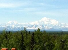 Talkeetna, Alaska (view of Mt. McKinley from back deck of the Talkeetna Alaskan Lodge)