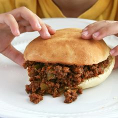 Sloppy Joe... no ketchup - tried and liked! Might want to double it for leftovers