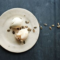In our Camomile Apple ice dessert, we use the humble plant's floral, lemony fragrance to balance the sweetness of vanilla.  A fresh apple sorbet serves as a counterpoint, with roasted pumpkin seeds adding a welcome crunch.