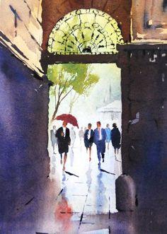 Contemporary Art Gallery Melbourne Australia :: Malcolm Beattie - Watercolourist :: 5