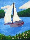 Monet style sailboats