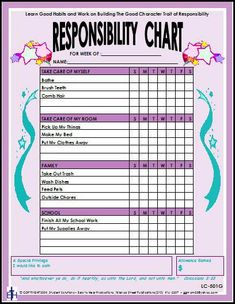 Keep track of your child's chores with these laminated charts. These weekly charts contain four categories: Take Care of Myself, Take Care of My Room, Family Reward Chart Kids, Kids Rewards, Chore Chart Kids, Rewards Chart, Family Chore Charts, Chores For Kids By Age, Chore List For Kids, Age Appropriate Chores For Kids, Toddler Chores